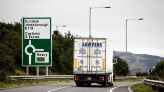 Truck approaching border