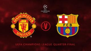 Manchester United go play Barcelona for di quater finals of di UEFA Champions League