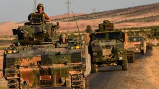 Турецкие военные в Сирии в сентябре 2016 года