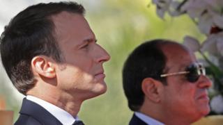 ماكرون: سجل حقوق الإنسان في مصر يُعتبر أسوأ من عهد مبارك