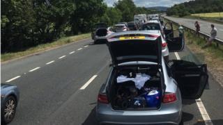 A55 gridlock