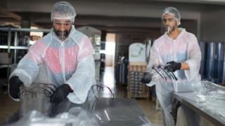 Mask-making factory