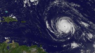 صورة لإعصار إيرما