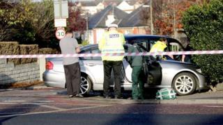 Crash on Glasgow Road