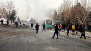 Kayseri'deki saldırının hemen sonrası