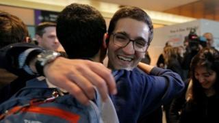 一名伊朗学生入境美国