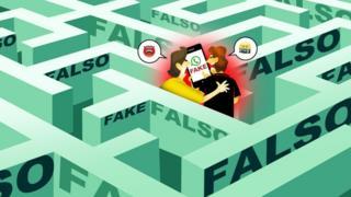 Dois amigos em labirinto de notícias falsas