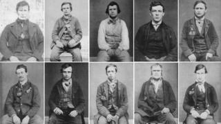 Selection of Derby Gaol Museum mug shots
