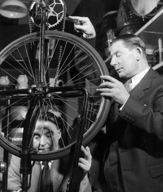 Jack Holden and Charles Willis who 'invent' sound effects from a thousand and one different gadgets in their 'storeroom'