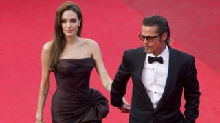 US actor Brad Pitt (R) and US actress Angelina Jolie (L)