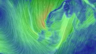 Graphic illustrating wind conditions on Thursday