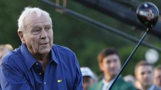 Arnold Palmer at the 2015 Masters Tournament at the Augusta National Golf Club in Augusta, Georgia, US. 9 April 2015
