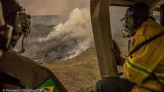 Incêndio no Parque Nacional Chapada dos Veadeiros