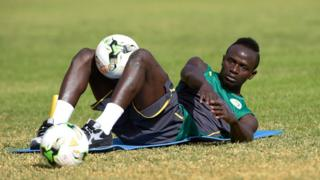 Senegal's national football team player Sadio Mane takes part in a training session on January 4, 2017 iin Dakar, during preparations for the upcoming 2017 Africa Cup of Nations in Gabon.