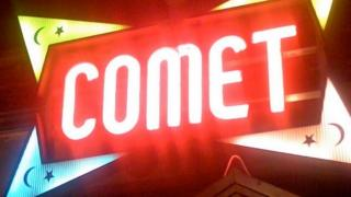 sign outside Comet pizza