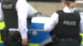 A generic partially blurred image of two PSNI officers from behind