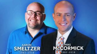 A tribute image of Aaron Smeltzer, left, and Mike McCormick, right, tweeted by WYFF4