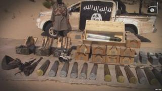 IS' Sinai Province, the most prominent jihadist group, posted video showcasing their weapons
