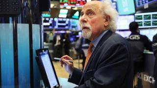 a NYSE trader