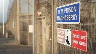 The entrance to Maghaberry Prison near Lisburn, County Antrim