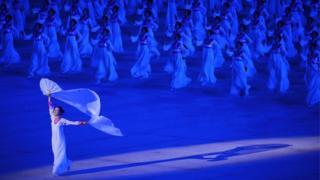Dancers at the Arirang mass games