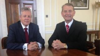 Peter Robinson and Maurice Devenney