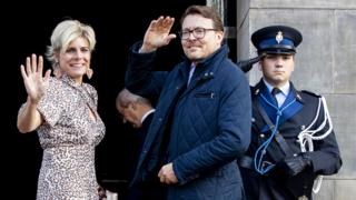 Princess Laurentien and Prince Constantijn are pictured on 04 December, 2019.
