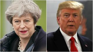 Prime Minister Theresa May and President Donald Trump