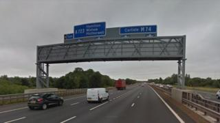 M74 Junction 6, Motherwell