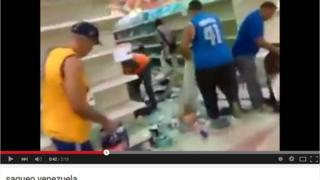 Videos such as this one, claiming to show looters ransacking a supermarket, are being widely shared in Venezuela