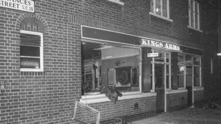 King's Arms after the bombing