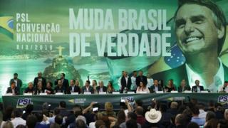 Convenção do PSL que oficializou candidatura de Jair Bolsonaro