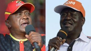 Bw Kenyatta na Bw Odinga