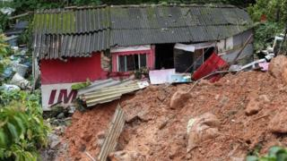 in_pictures A house destroyed by a landslide in Guarujá, São Paulo state, Brazil. Photo: 3 March 2020