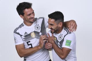 Mats Hummels and Ilkay Guendogan of Germany