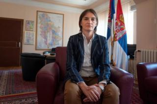 Ana Brnabic alichaguliwa na rais mpya , Aleksandar Vucic.