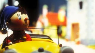 Noddy in his yellow car