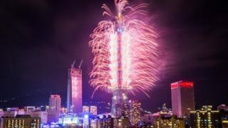 台湾垮年101烟花