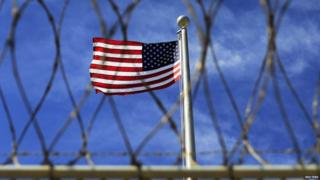 The US flag flies over Guantanamo Bay