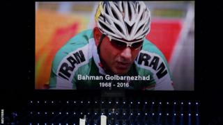 Bahman Golbarnezhad died following a crash in the Men's C4-5 road race on Saturday