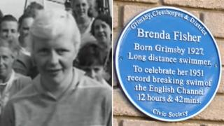 Brenda Fisher and plaque