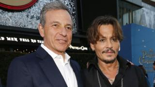 Bob Iger and Johnny Depp