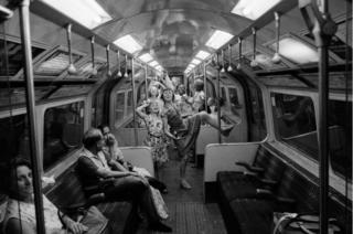 Fancy dress, Northern Line, 1974