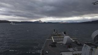 Warships off coast of Scotland