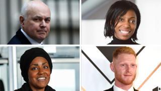 Iain Duncan Smith, Sharon White, Nadiya Hussain and Ben Stokes