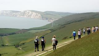 Walking on isle of Wight
