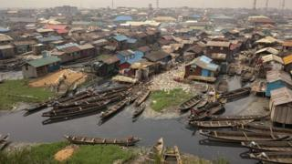The slum of Makoko in Lagos, Nigeria - Wednesday