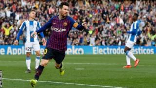 Messi yatsinze ibitego 22 mu mikino 15 aheruka gukina muri shampiyona ya La Liga yo muri Espanye