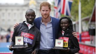 Победители марафона с принцем Гарри