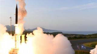El misil Arrow 3 en una prueba en Alaska